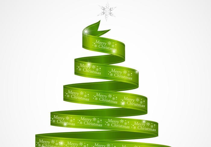 Vetor de árvore de Natal de fita verde