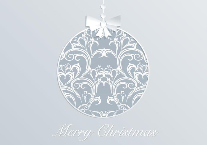Vetor de enfeite de Natal de Damasco