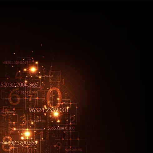 A informação é abundante em digital. vetor