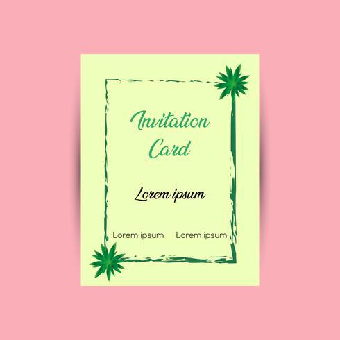 Modelo de Design de cartão de convite vetor