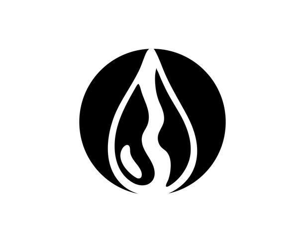 Logotipos de cor preta de gota de água n vetor