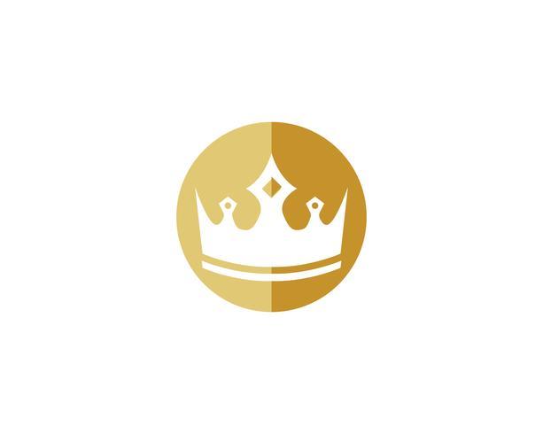 Ilustração em vetor coroa logotipo modelo