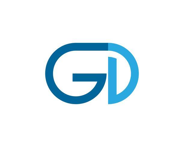 Logotipo de letra GD e busines de vetor de símbolo