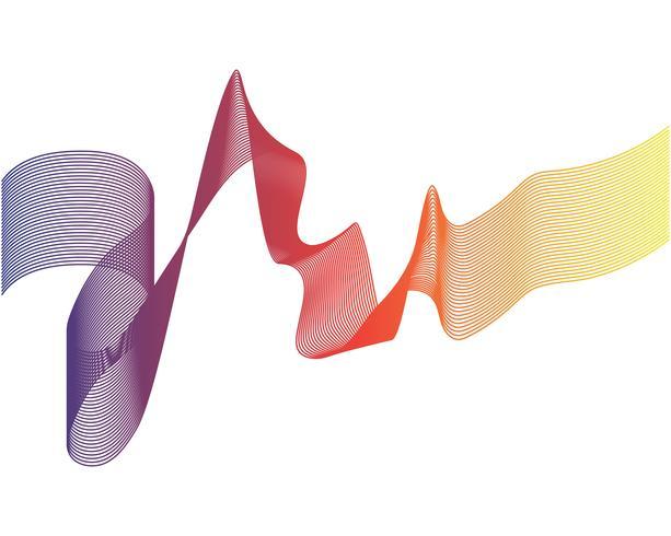 Vetores de ilustração de linha de onda
