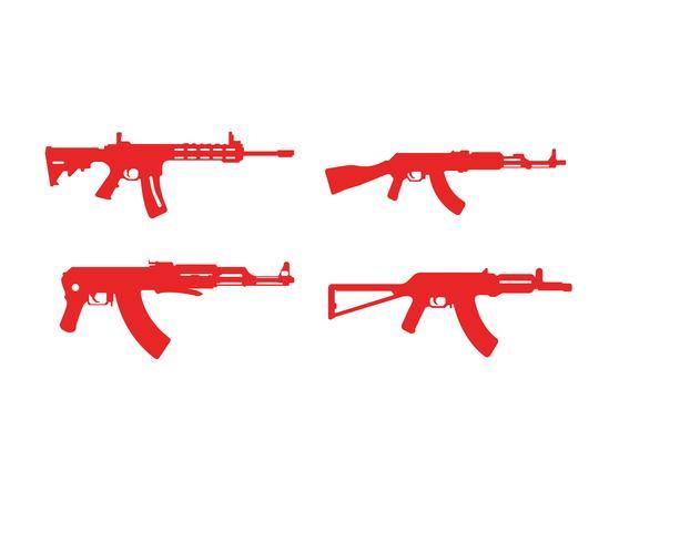 Modelos de símbolo de vetor de arma