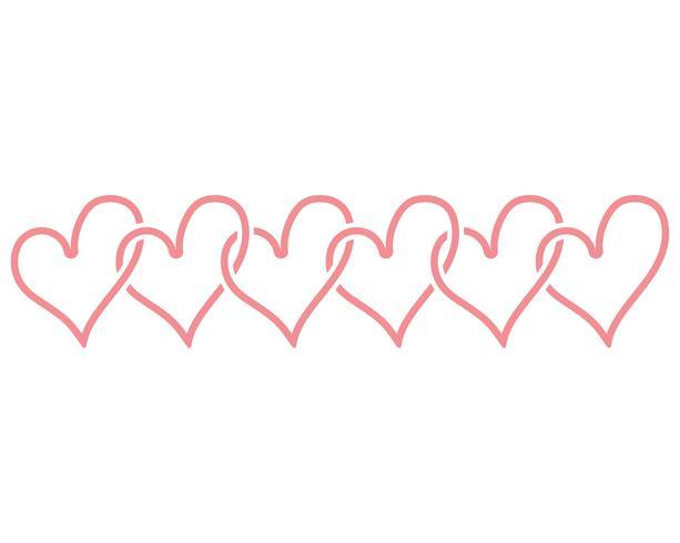 Amor coração logotipo e modelo vetor