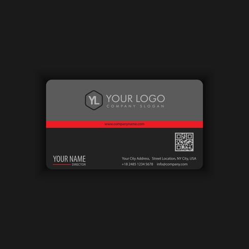 Modelo de cartão moderno criativo e limpo com cor preto vermelho vetor