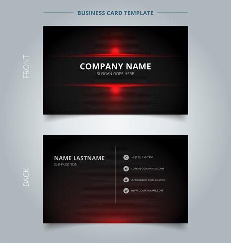 Fundo vermelho e preto da tecnologia do molde de Namecard do teste padrão. vetor