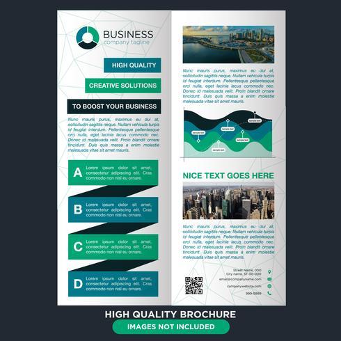 Brochura Green Business Fold vetor