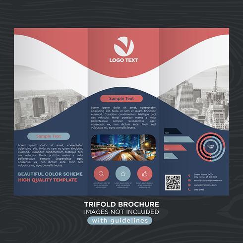 Folheto de dobras de negócios com três dobras vetor