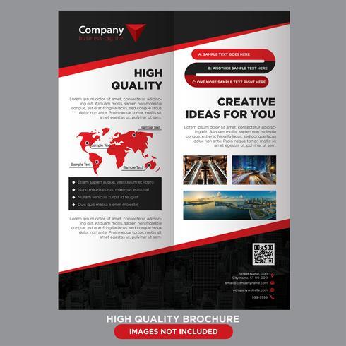 Brochura de negócios vermelho preto vetor