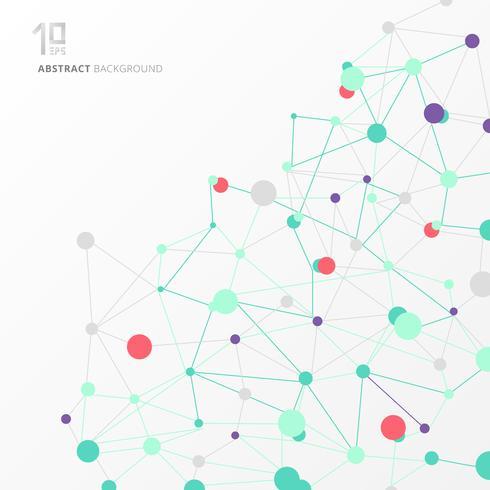 Molécula de estrutura abstrata e formação científica de comunicação vetor