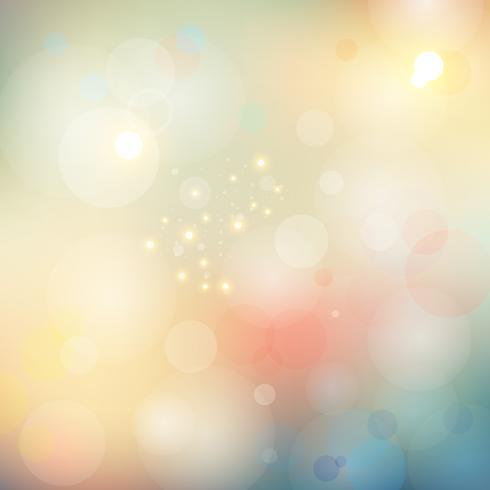 O bokeh borrado sumário ilumina o fundo macio da cor. vetor