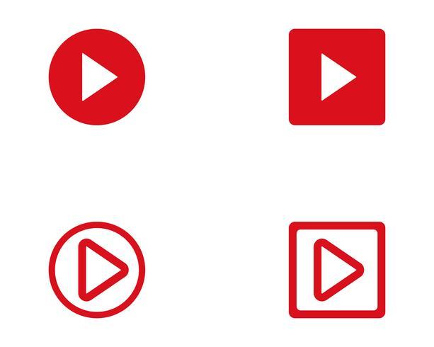 Jogar botão vector logo vector media player