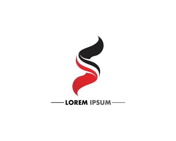 Design de logotipo de carta corporativa de negócios S vetor