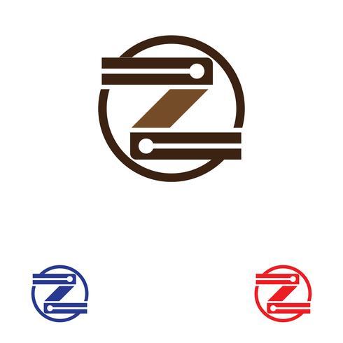 Z carta logotipo modelo vector icon ilustração