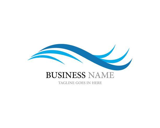 logotipo de onda e vetor de símbolo