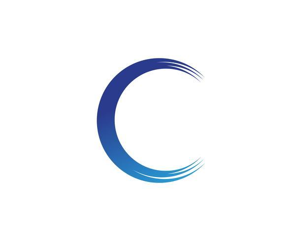 Projeto da ilustração do vetor do logotipo da onda C