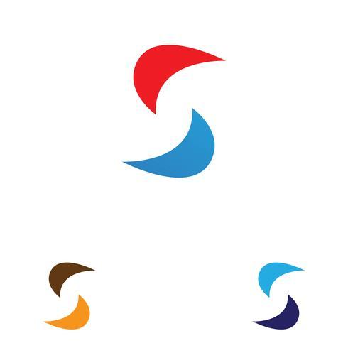 Logotipo da empresa corporativo S carta vetor
