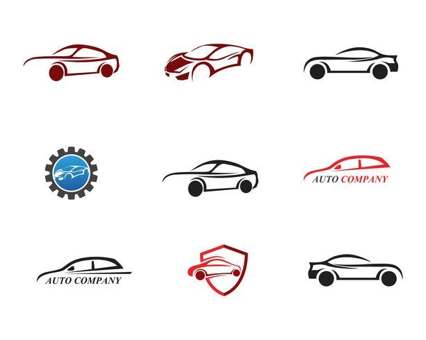 Logotipo do carro de corrida, ilustração design simples vetor