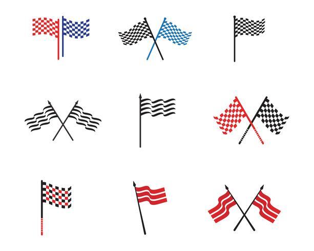vetores de logotipo e símbolo de modelo de bandeira