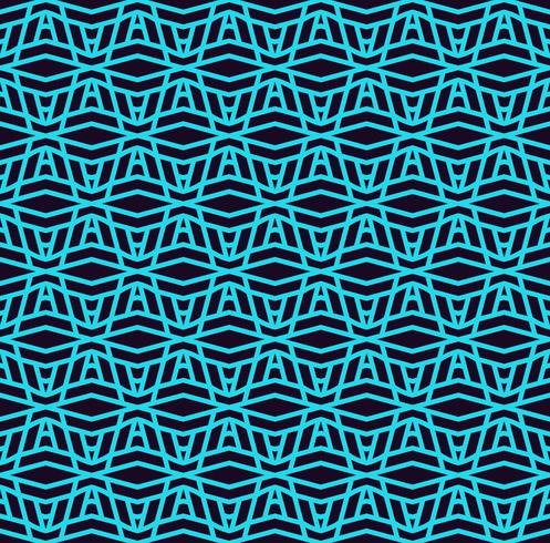 Padrão sem emenda de vetor. Textura linear à moda moderna Repetindo azulejos geométricos com elementos de linha. vetor