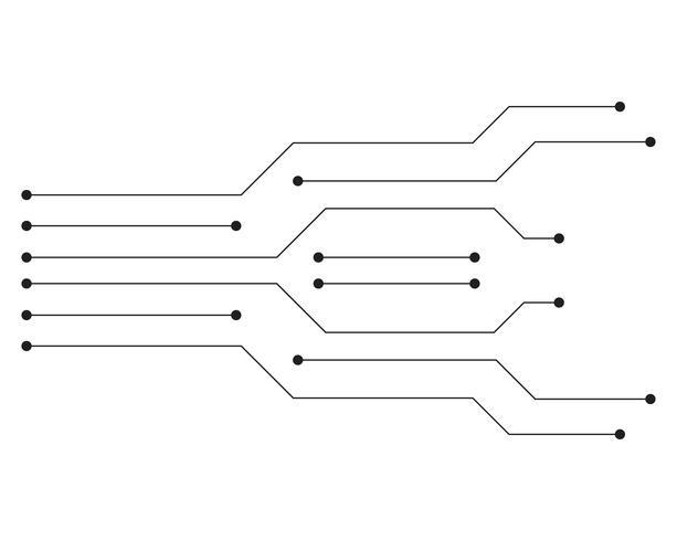 Vetor de modelo de logotipo de circuito