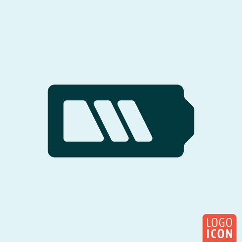 Ícone da bateria. Design minimalista do acumulador vetor