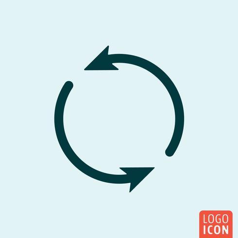 Ícone de atualização design minimalista vetor