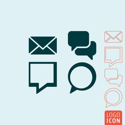 Ícone de mensagem isolado vetor