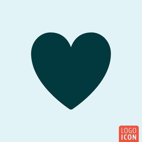 Design minimalista de ícone de coração vetor