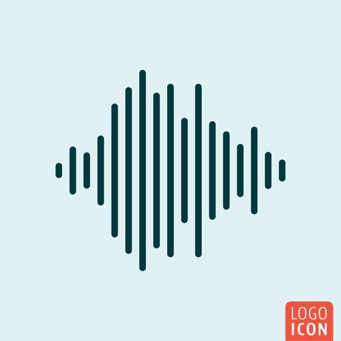 Ícone de onda sonora vetor