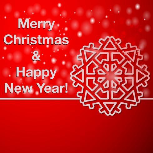 Feliz ano novo e feliz Natal cartão vetor