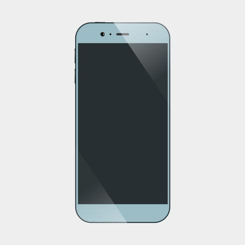 Ícone de smartphones isolado vetor