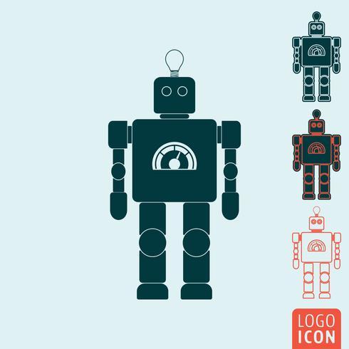 Ícone de robô isolado vetor