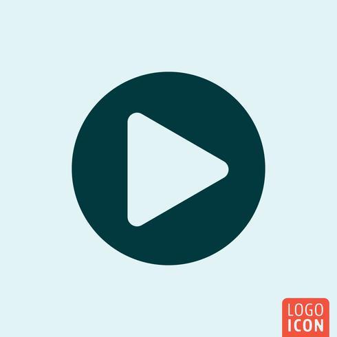 Jogar botão design minimalista vetor