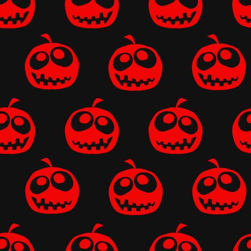 Fundo sem emenda de abóbora de Halloween vetor