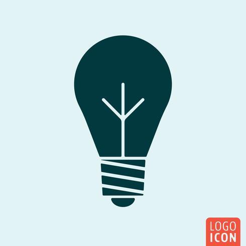 Ícone da lâmpada do bulbo vetor