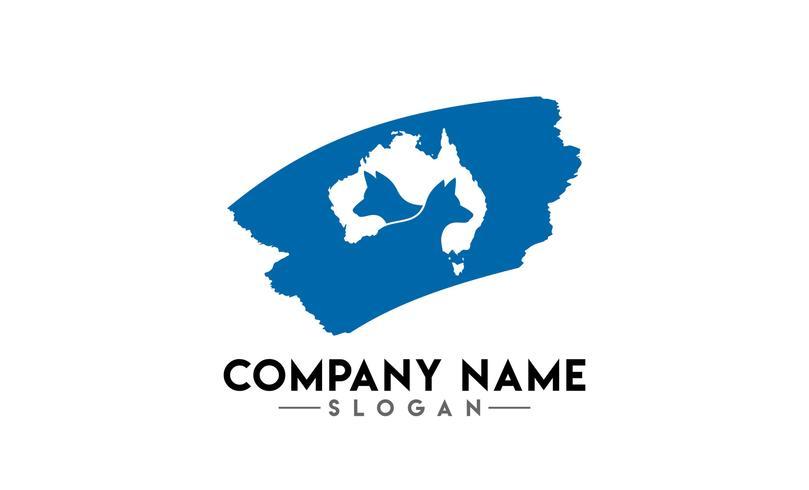 logotipo de escova animal australiano vetor