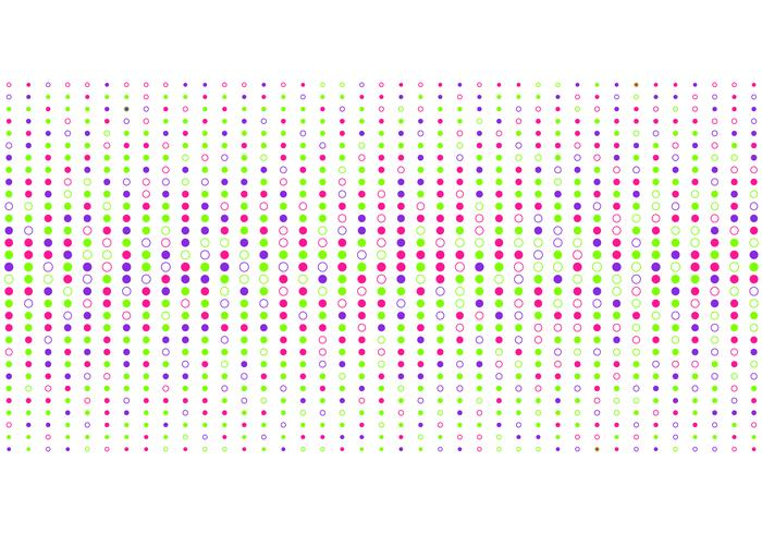 Estilo de intervalo mínimo colorido abstrato do teste padrão de pontos no fundo branco. vetor