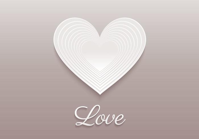 Fundo de vetor de coração em camadas