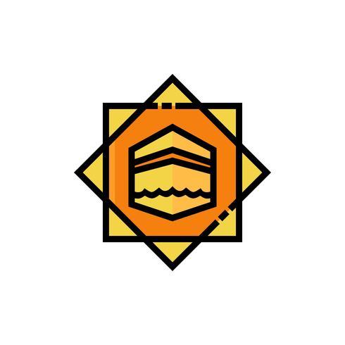 projeto de ícone de preenchimento de kaaba vetor