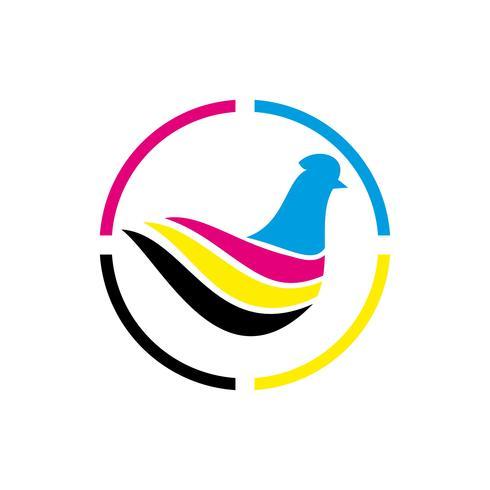 ícone de impressão de logotipo de pintura vetor