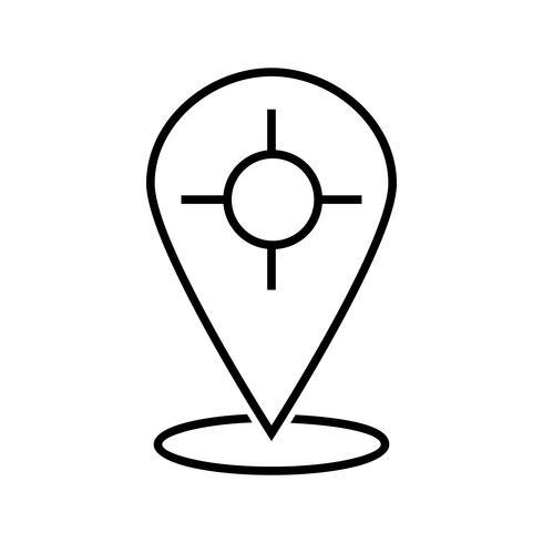 ícone de linha preta de espaço reservado vetor