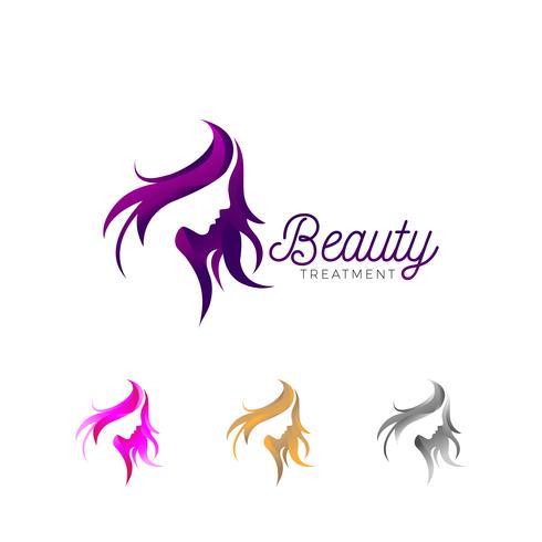 Logotipo de negócios de tratamento de beleza vetor
