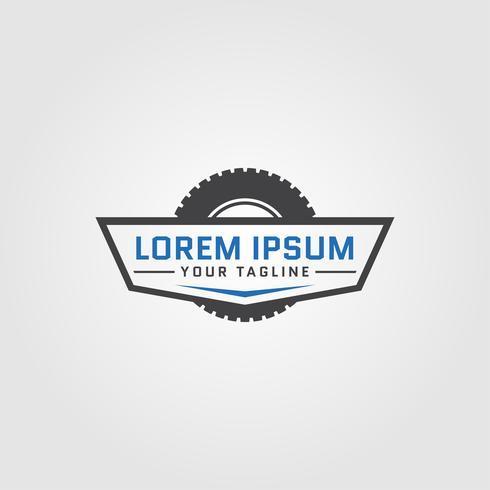 Modelos de design de conceito criativo Auto pneu logotipo vetor