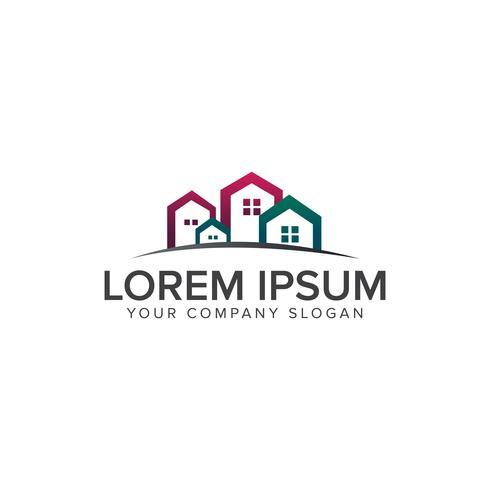 Logotipo imobiliário. Conceito de design de logotipo de construção arquitetônica vetor