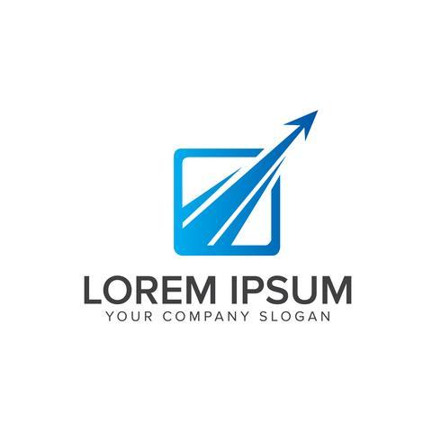 modelo de conceito de design de logotipo moderno seta de luxo. vetor