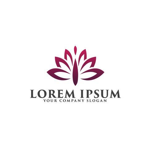 logotipo da flor. modelo de conceito de design de logotipo de Spa de beleza vetor