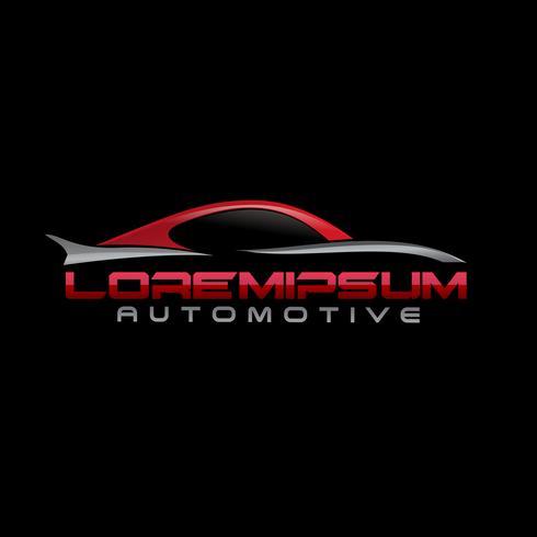 modelo de conceito de design de logotipo automotivo vetor